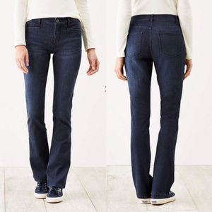 J. Jill Smooth-Fit Barely Boot Cut Jeans